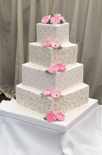square 4 tier wedding cakes wedding cakes 20343
