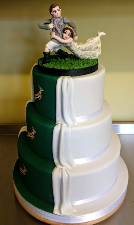 rugby themed wedding cake toppers 2 sided wedding cakes 19467